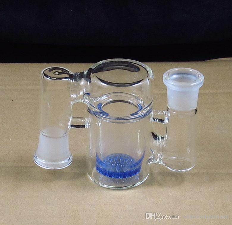 Cenere di vetro da 90 gradi Catcher con fiala a nido d'ape, tubi acqua, percolatore, tubo fumo, spedizione gratuita P-008