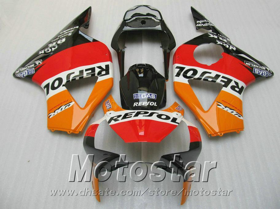 Injection molding motobike set for Honda fairings cbr900rr 954 2002 2003 CBR900 RR red orange REPSOL ABS fairing kit CBR954 02 03 YR61