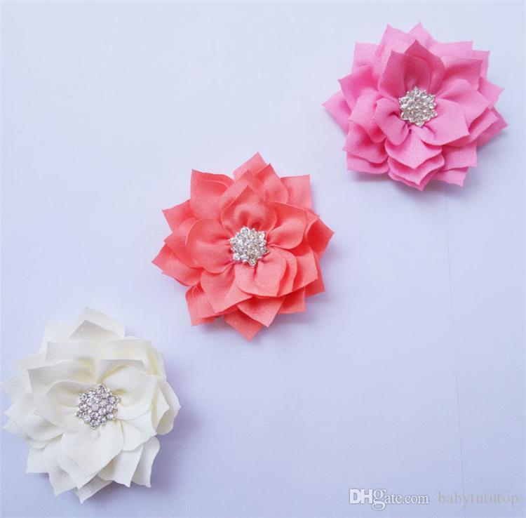Baby Mädchen Haarschmuck Nette Farben Baby Haarbänder Licht Tuch Material mit Blumen Kinder Hochzeit Haarschmuck LY005