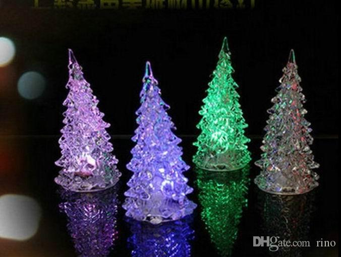 2019 Christmas Decorations Gifts Cute Mini Led Christmas Tree With Light 13cm Hight Can Change Colors Xmas Home Decorations From Rino Price