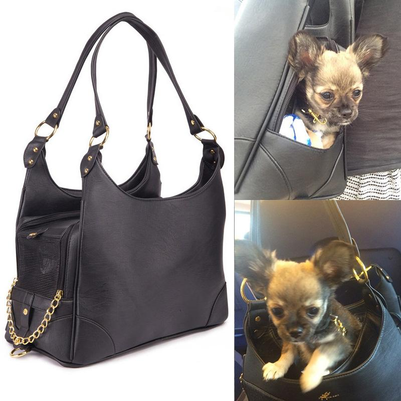 e0e417b2337b 2019 Luxury Black Ostrich Pattern Dog Bag Carrier PU Leather Pet Chihuahua  Cat Handbag Outside Shoulder For Small Dogs From Anniezhou1991, $43.21 |  DHgate.