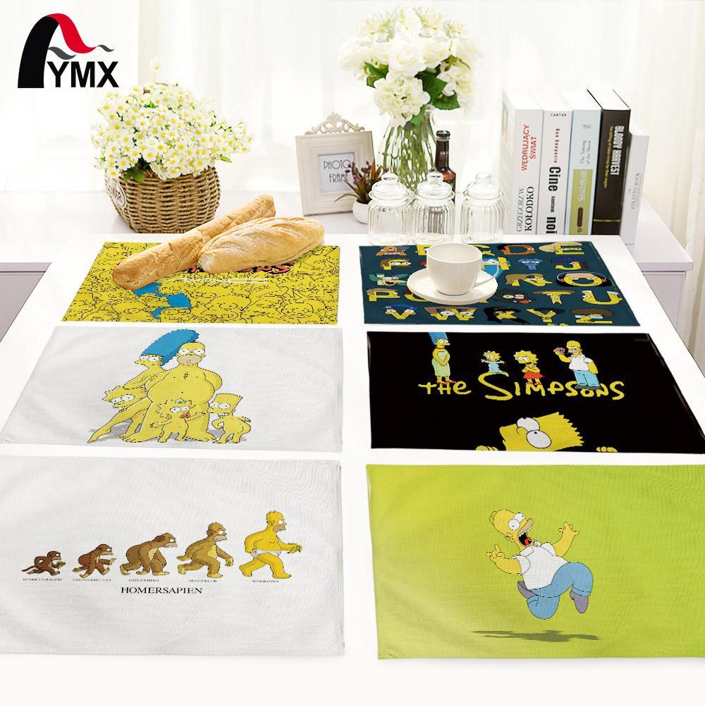 Wholesale-American Style Home Dekoration Cartoon Tischset Küche Decor  Tischauflagen Serviette Für Hochzeit Set Wohnaccessoires