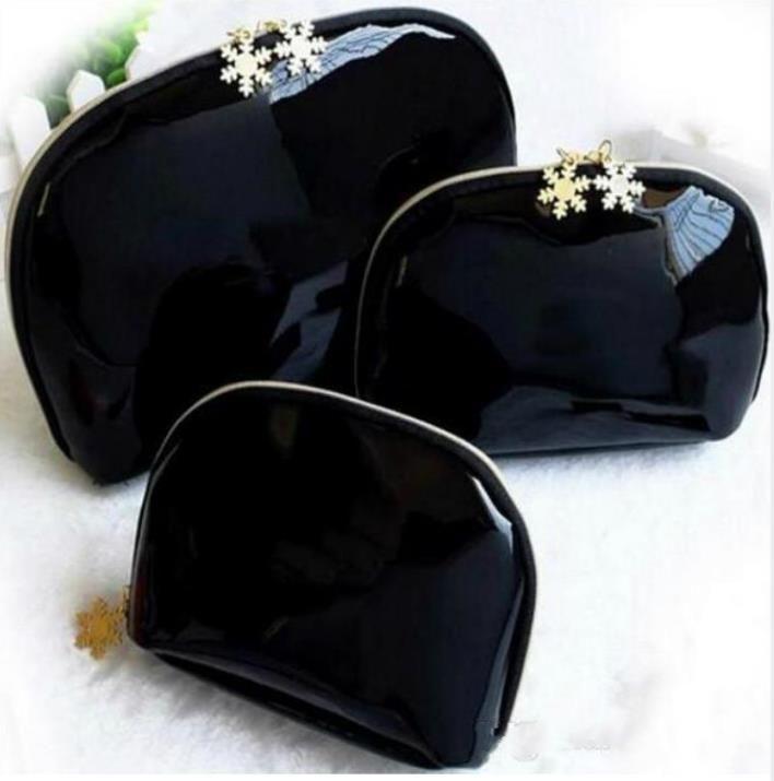Luxury Fashion real leather double zipper cosmetic bag travel wash clutch key storage bag womens handbag makeup bag wholesale