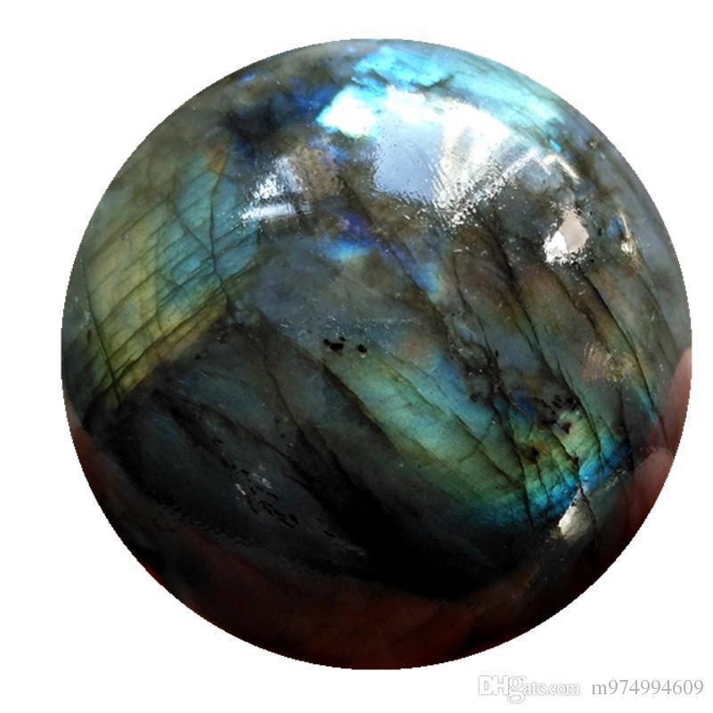 High quality natural rock rainbow colorful labradorite quartz crystal ball healing sphere magic ball for home decoration
