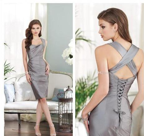 Discount Lm Cheap Gray Sexy Cocktail Dresses Mother Of The Bride ...