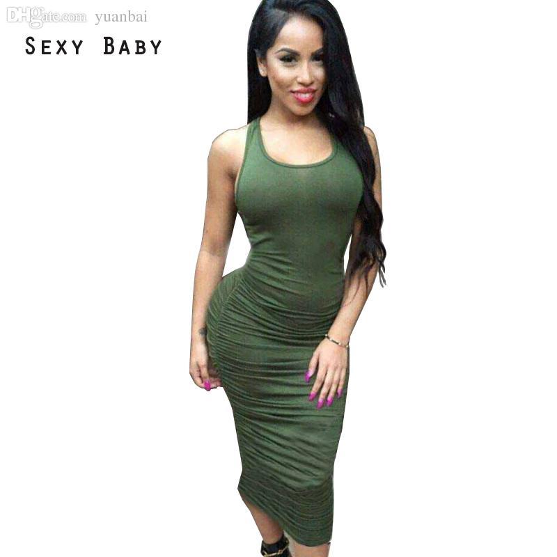 b10144f8c4 Wholesale-Women Summer Dress Sexy Maxi Dresses Sling Long Pleated Cotton  Bandage Bodycon Dress Evening Party Dresses Vestidos De Festa