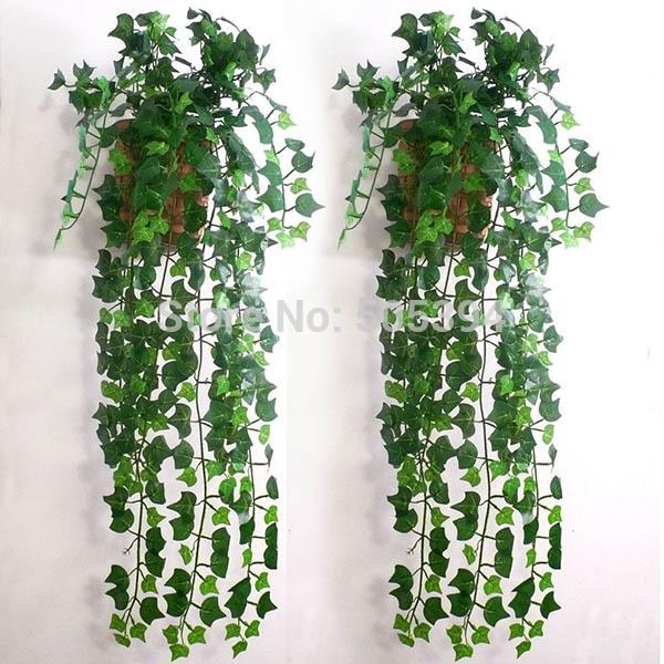 Artificial Ivy Leaf Garland plantas vid falso follaje flores hogar decoración 7,5 pies