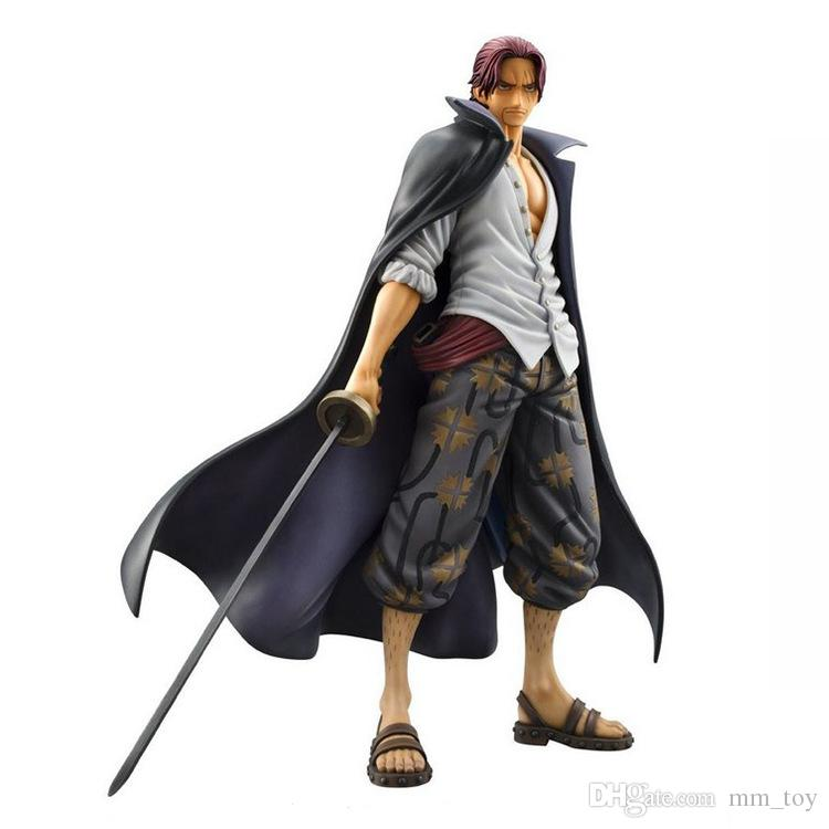 "Anime One Piece Akakami no shankusu 24.5cm/9.6"" BIG Figure Colosseum Portrait of Pirates Monkey D Luffy Figure New in Box"