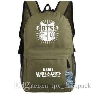 Green Blue Black Backpack Bts Day Pack Bulletproof Boy Scouts School Bag  Cartoon Packsack Quality Rucksack Sport Schoolbag Outdoor Daypack Daypack  Swissgear ...