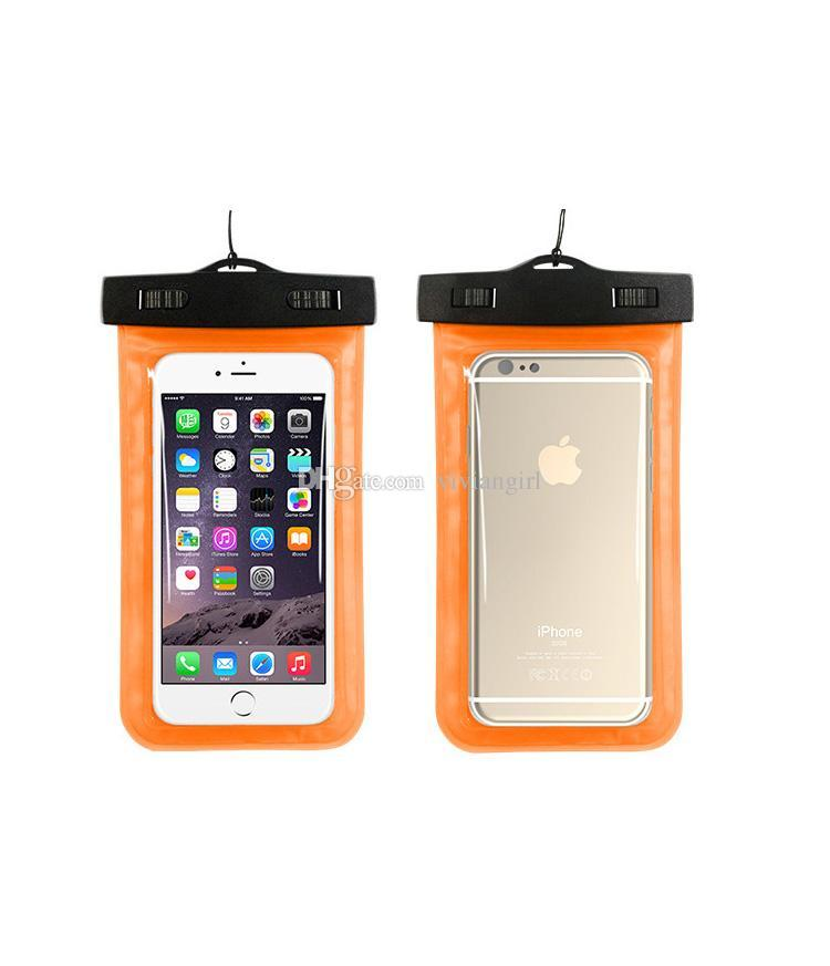 Waterproof case for samsung s6 s5 waterproof dry cell phone water proof neck transparent pouch bags for iPhone 5s 6 plus i6