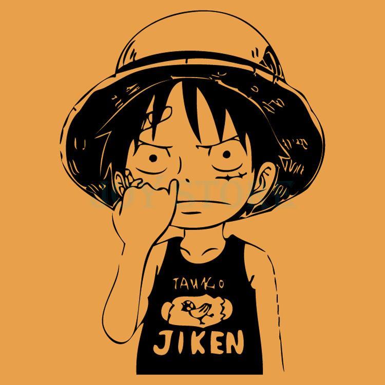 Compre Luffy One Piece Decal Japanese Cartoon One Piece Etiqueta De