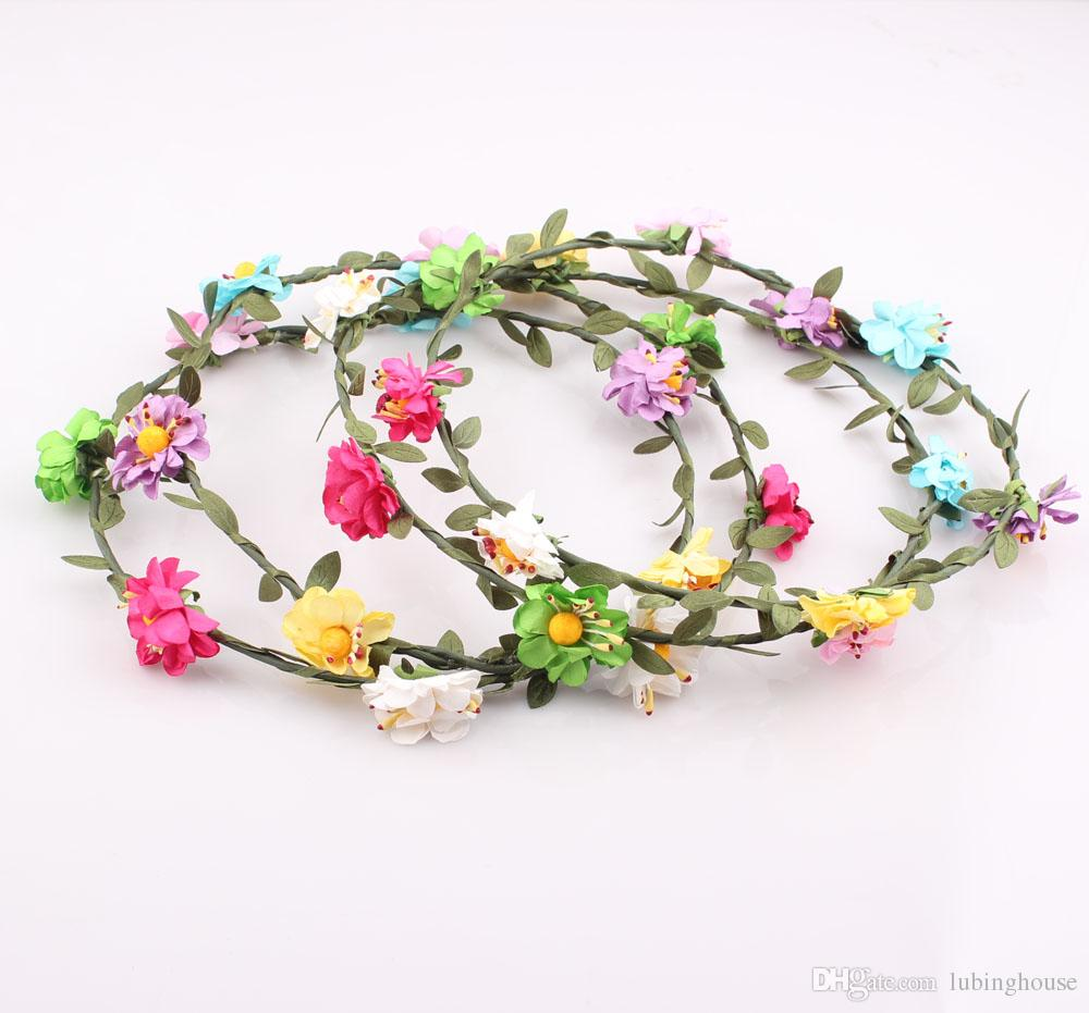 2018 flower crown garland headband hair accessories women girls 2018 flower crown garland headband hair accessories women girls floral tiara ornament wedding party beach headband jjal zh113 from lubinghouse izmirmasajfo Image collections