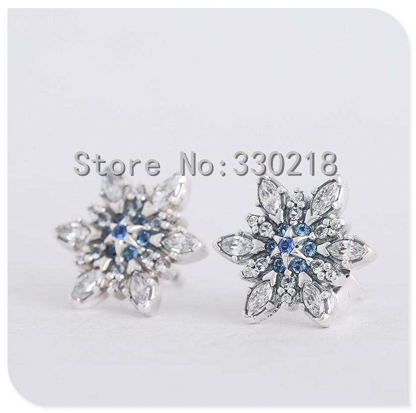 pandora snowflake earrings 2018 compatible with pandora jewelry snowflake silver stud 3451
