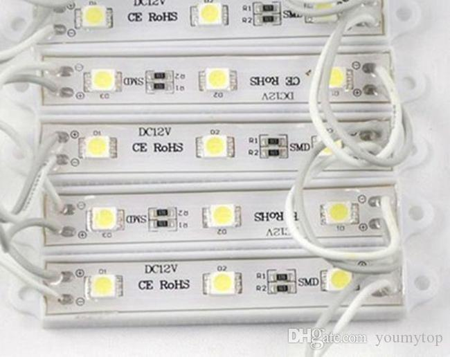 SMD 5050 Módulos LED a prueba de agua IP65 DC12V módulo led Señal de LED Retroiluminación para letras de canal Iluminación de letrero
