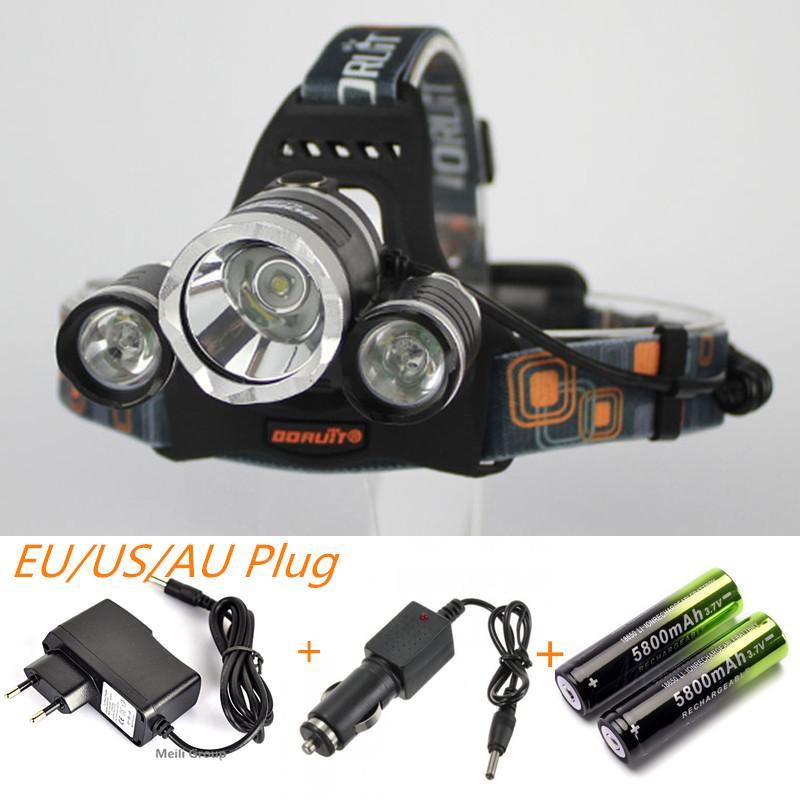 6000lm Cree Xml T62r5 Led Headlight Headlamp Head Lamp Light 4 Mode