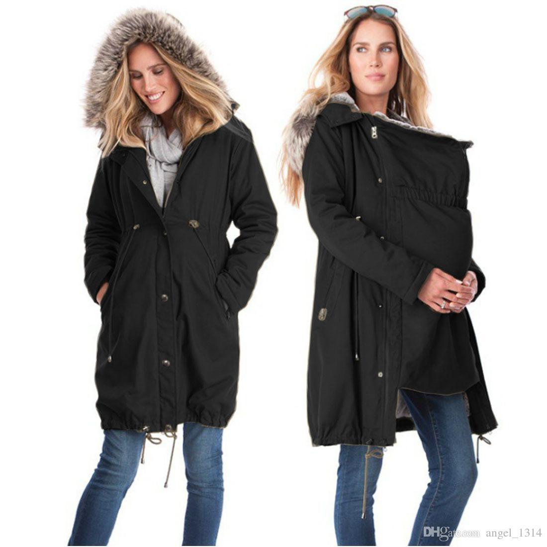 2018 Fashion Maternity Clothings Winter Jackets Kangaroo ...