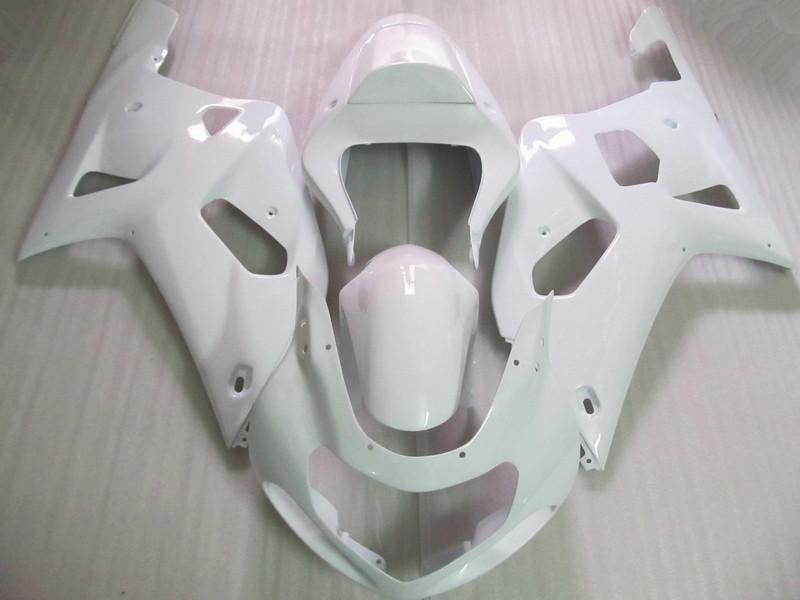 Tutte le carenature fai-da-te di colore bianco Suzuki GSXR 600 750 00 01 02 03 K1 GSX-R600 R750 2001 2002 2003 kit carene in plastica