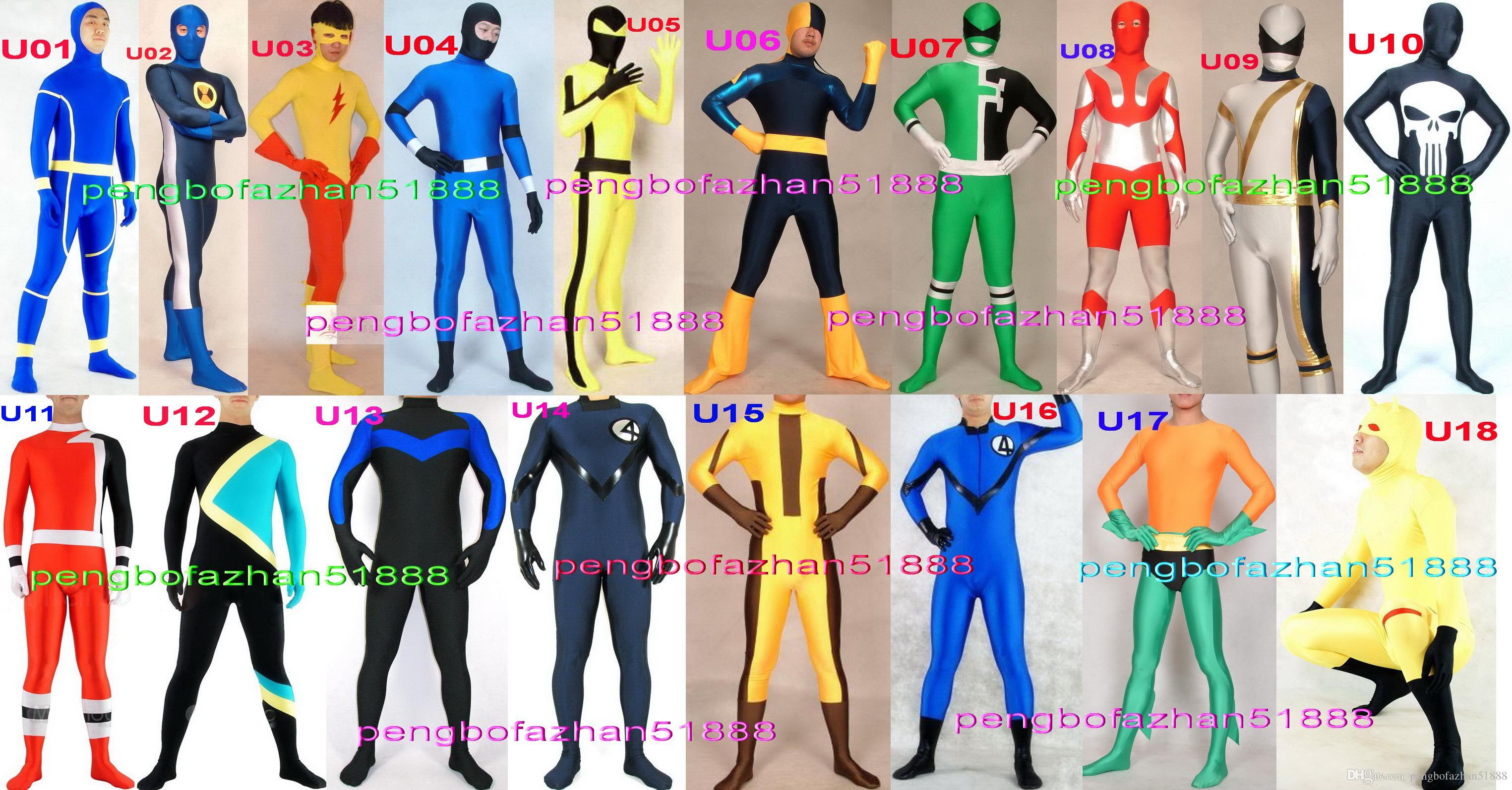 97b944aa5 Traje de superhéroe de fantasía Outfit Nuevo Traje de 18 superhéroes de  licra de estilo Trajes de unicornio Traje de superhéroe Flash Trajes de  Jamaica ...