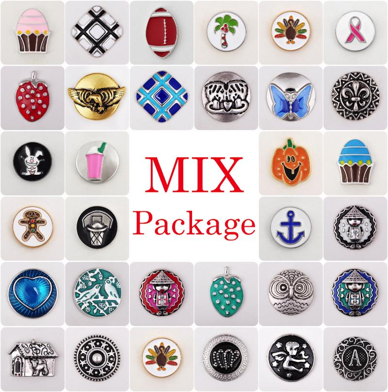 Vocheng Noosa Clearance Sale! Mix Sales 50pcs/100pcs/200pcs/500pcs/bag Random Choice18mm Hand Painted Snap Button (Vn-722)