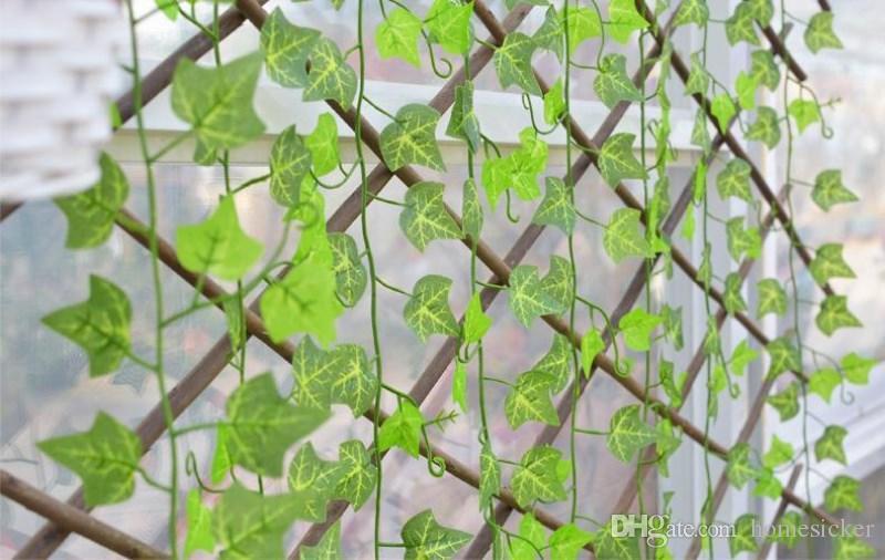 2.5m Artificiale Edera Foglia Ghirlanda Piante Vine Falso Fogliame Home Decor Plastica Artificiale Fiore Rattan Sempreverde Cirro