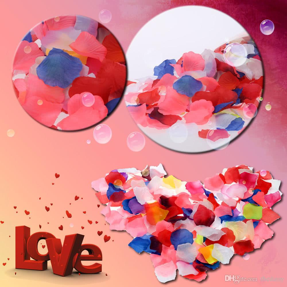 Colorful Wedding Ceremony Perfect Simulation Flower Petals Romantic