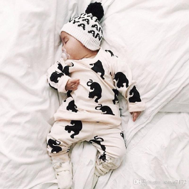 Newest Baby Girls Clothes Suits Tiger Tee Shirts Pants Long Boys Outfits Leopard Clothing Sets Children Sport Suits Cotton