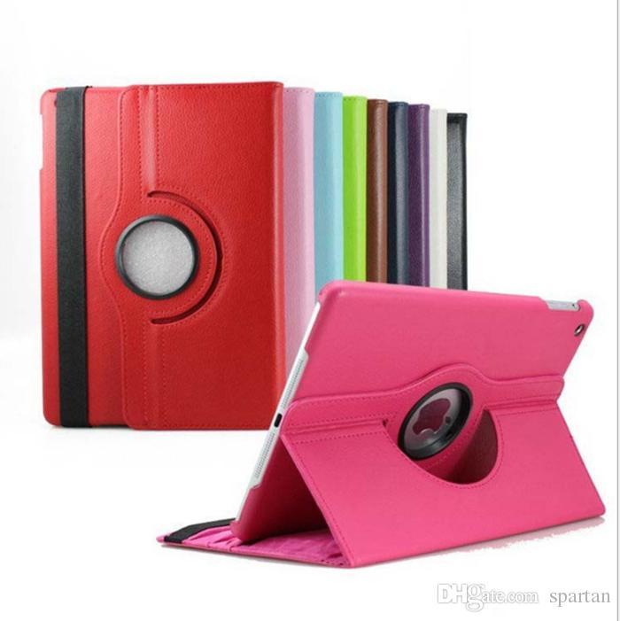 Pour l'air iPad 2 3 4 5 6 7 gen Pro 9.7 10.5 10.2 11 Nouveau étui en cuir magnétique 360 Rotating Stand support intelligent Housse de protection