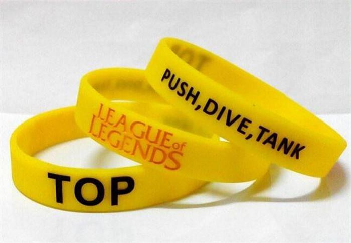 new arrive LOL GAMES Souvenirs Silicone Wristband LEAGUE of LEGENDS Bracelets with ADC, JUNGLE, MID, SUPPORT, TOP, New style Carving D216