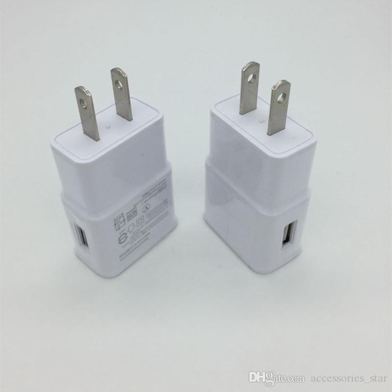 Alta Qualidade 5 V 2A Micro USB Carregador de Parede UE EUA Plug Adaptador De Viagem Para Casa Sem LOGOTIPO Universal Para Galaxy S7 S6 Borda Universal 5 V 2A EUA Plug