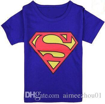 2017 Summer Boy's T Shirts Spiderman Superman Minions Cotton Short-Sleeved T-Shirt Children's Cartoon Printing kids Baby Boys Girls Clothes