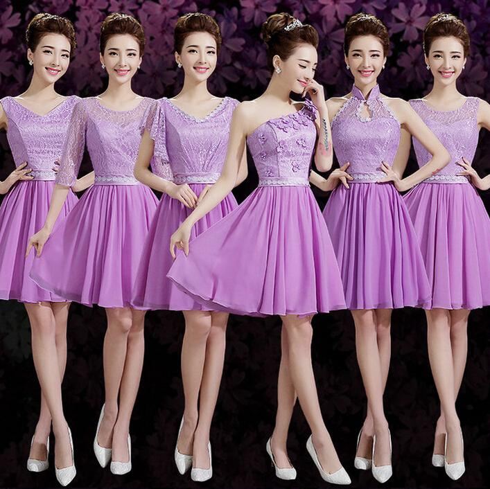 Short Lace Bridesmaid Party Dresses for Teens Different Styles ...