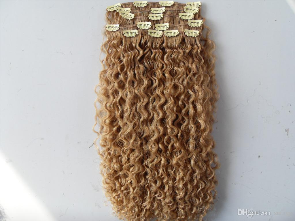 새로운 자연 곱슬 곱슬 곱슬 곱슬 머리 곱슬 머리카락을 곱슬 곱슬하게 처리되지 않은 금발 인간의 처녀 레미 확장 중국어 머리카락을 엮어 냈다.