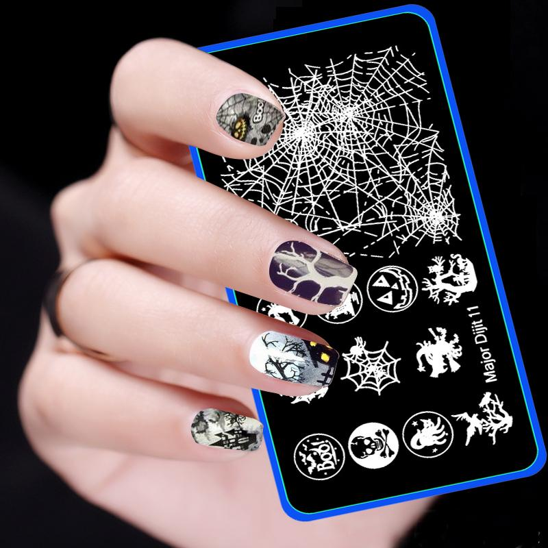 Wholesale New Halloween Pattern Nail Stamping Plates Stainless Steel