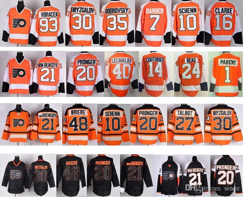 Nhl Philadelphia Flyers Briere Youth Ice Hockey Shirt Jersey Punctual Timing Ice Hockey Memorabilia
