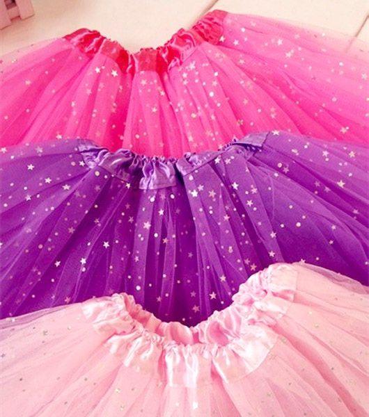 12 Flully Tutu Skirt Princess Ballet Star Sequins Tutus Baby Girls Dance Clothes Pettiskirt 3Layers Tulle Online