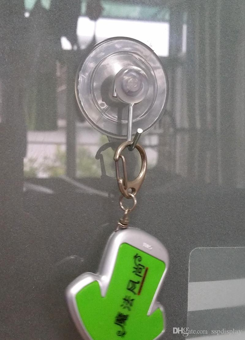 POP Пластиковые Всасывающая Sucher Cup Base Dia 4см Clear Display Вход Promotion ценник Клип держатель Haning Хука высокого качества
