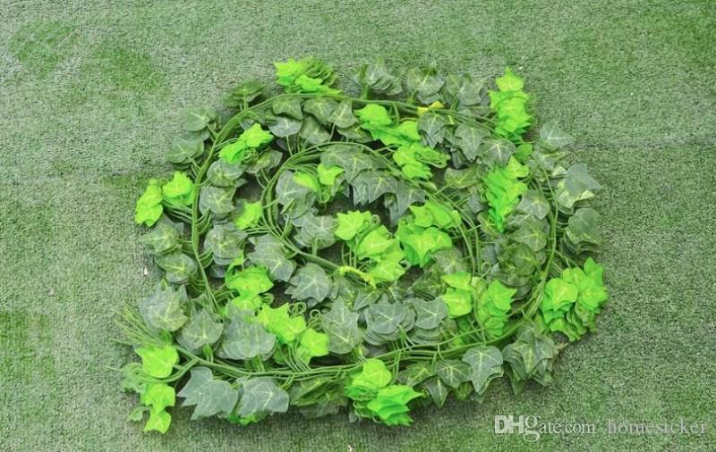 2.5 м искусственные листья плюща гирлянда растения Лоза поддельные листва цветы домашнего декора пластиковые искусственный цветок ротанга вечнозеленые перистые