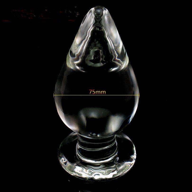 Stora vuxna Spel Sexiga Glass G Spot Penis Crystal Dildos Glass Butt Plug Anus Plunger Anal Sex Toy