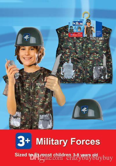 halloween children role play costumes military uniform chef doctor fireman policeman engineer field camouflage uniform m08 3 8y from