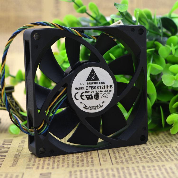 EFB0812HHB Delta 8CM 80MM 8*8*1.5CM 80*80*15MM 8015 12V 0.4A four-wire PWM FAN