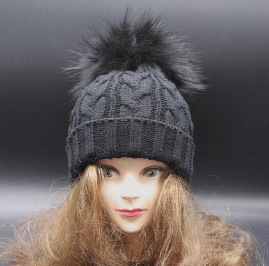 casquettes d'hiver bonnets chapeaux tricotés bonnet de laine chapeaux casquettes Nouveau bonnet et bonnet tricotés en laine teinte
