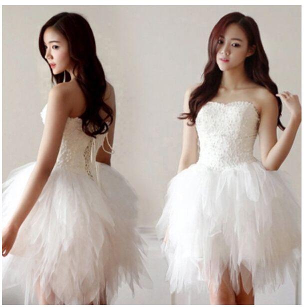 2015 New Short White Lace Evening Dresses Elegant Knee Length Cheap ...