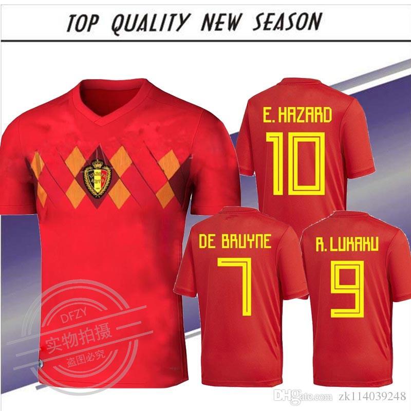 73179b1d2 2019 2018 Belgium World Cup Soccer Jersey LUKAKU FELLAINI E HAZARD  NAINGGOLAN DE BRUYNE Soccer Jersey 18 19 Belgium Thailand Quality S 4XL From  Zk114039248