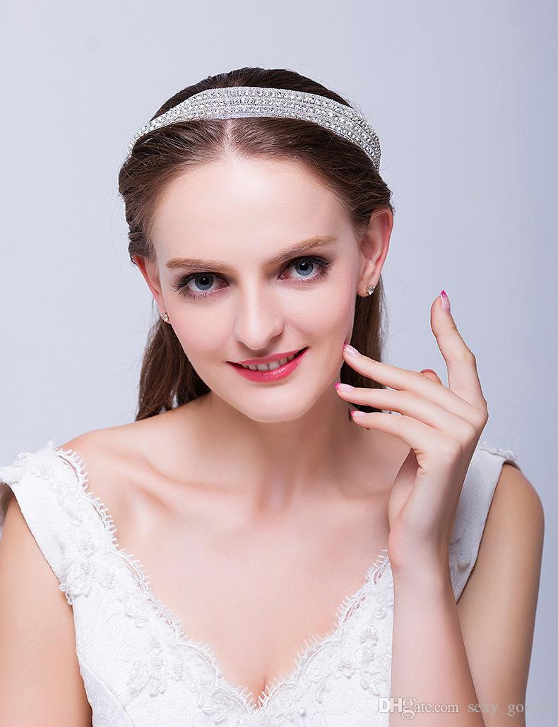Hair accessories manufacturers - Wholesale Wedding Hair Jewelry Manufacturers Headband Hot Air Hot Models 2016 Diamond Hair Band Batch Hy00196 Bridal Accessories Bridal Stores From
