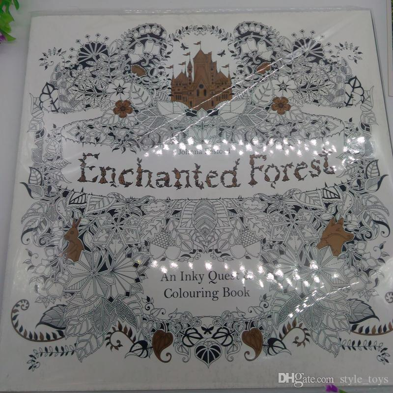 2015 Best Sales Edition Enchanted Forest Secret Garden An Inky Quest Coloring Book For Relieve Stress Graffiti Painting Drawing Fun