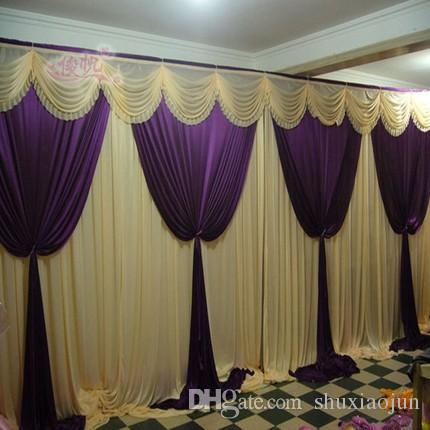 Wedding stage backdrops decoration romantic romantic purple with wedding stage backdrops decoration romantic romantic purple with white wedding curtain with swags sequins how to make wedding decorations ideas for wedding junglespirit Choice Image