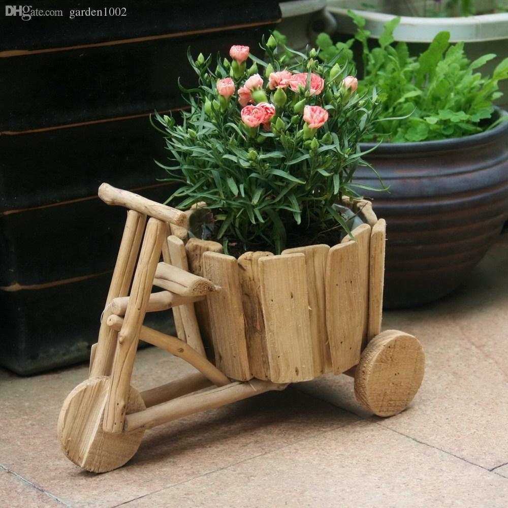 Wooden Planter Ideas: 2019 DIY Creative Ideas Flowerpot Handmade Wooden Carts