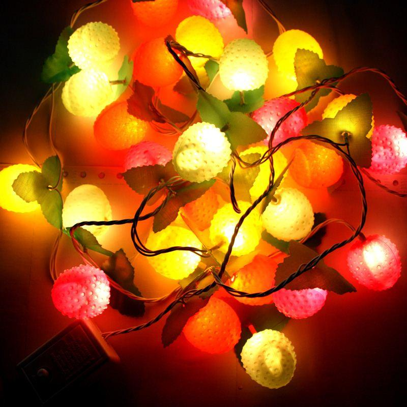 christmas lights string lights decorative lights holiday lights fruit shape apple lights christmas tree christmas decorations - Amber Christmas Lights