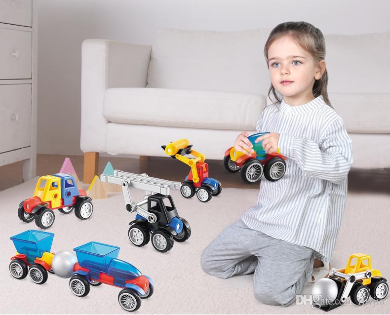 Beiens Magnetic Designer Construction Set Modelo Edificio de juguete de plástico Bloques magnéticos juguetes educativos para niños regalo