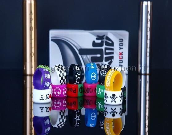 Anello in silicone antiscivolo colorato sigaretta elettronica Mod Vapor Anello in silicone Anello di Vape Anello antiscivolo in silicone Mahattan Apollo Subtank FJ115